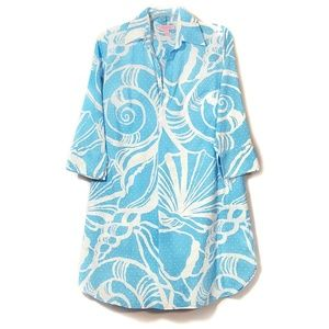 Lilly Pulitzer Polo Dress Tunic King Conch Print